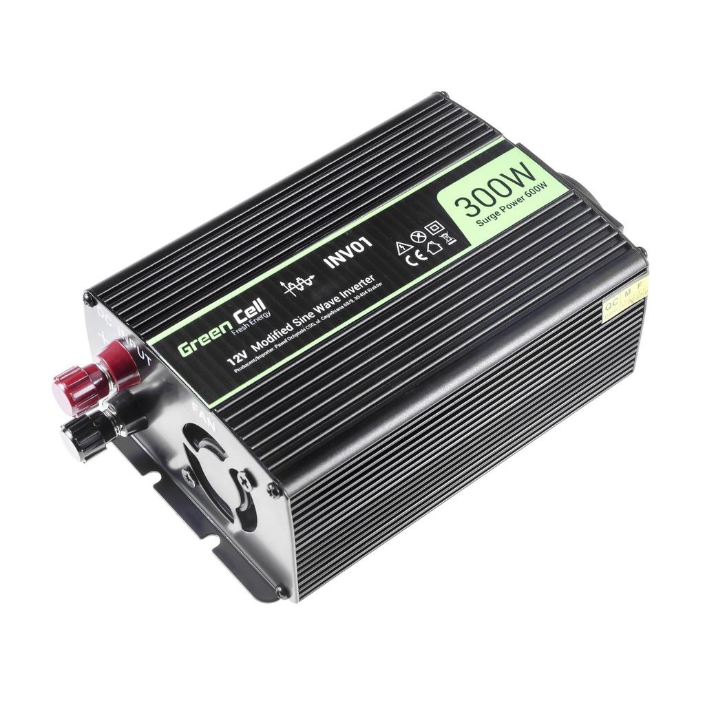 Green Cell ® Voltage Car Inverter 12V to 230V, 300W / 600W