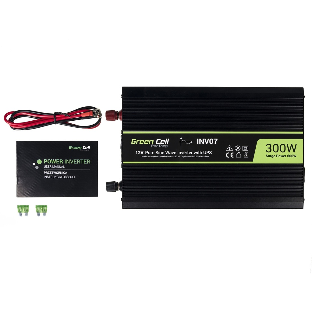 Green Cell ® Voltage Car Inverter UPS for furnances and central heating pumps 300W