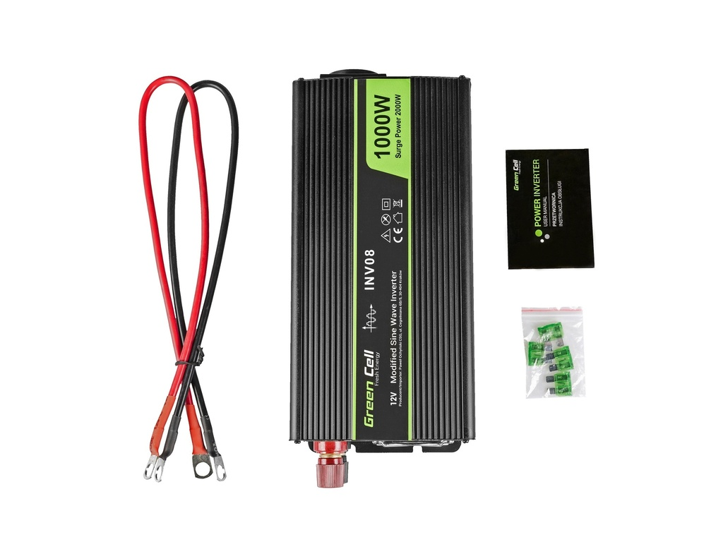 Green Cell ® Voltage Car Inverter 12V to 220V, 1000W/2000W