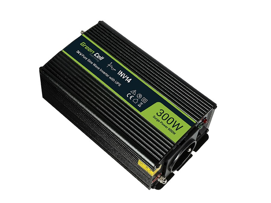 Green Cell ® Voltage Car Inverter 24V to 230V, 300W/600W Full Sine wave