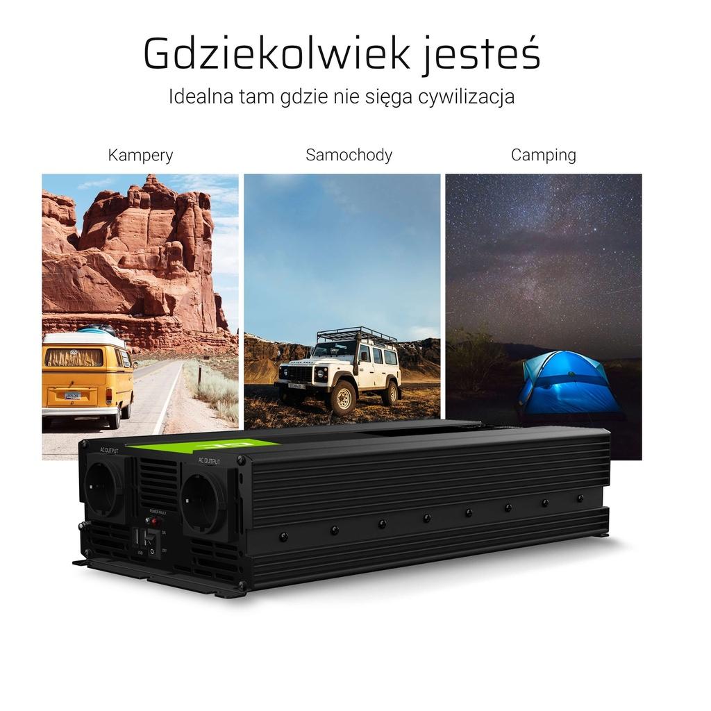 Inverter Green Cell® 24V to 230V Modified sine 1500W