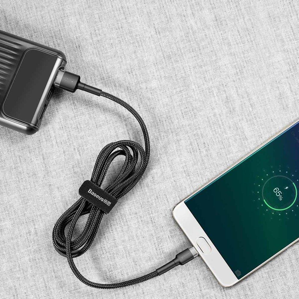 Baseus Cafule Cable Durable Nylon Braided Wire USB / micro USB QC3.0 2.4A 0,5M black-grey (CAMKLF-AG1)