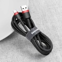 Baseus Cafule Cable Durable Nylon Braided Wire USB / USB-C QC3.0 2A 2M black-red (CATKLF-C91)