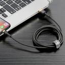 Baseus Cafule Cable Durable Nylon Braided Wire USB / Lightning QC3.0 2.4A 1M black-gold (CALKLF-BV1)