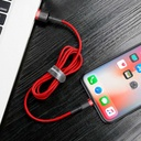 Baseus Cafule Cable Durable Nylon Braided Wire USB / Lightning QC3.0 2.4A 1M red (CALKLF-B09)