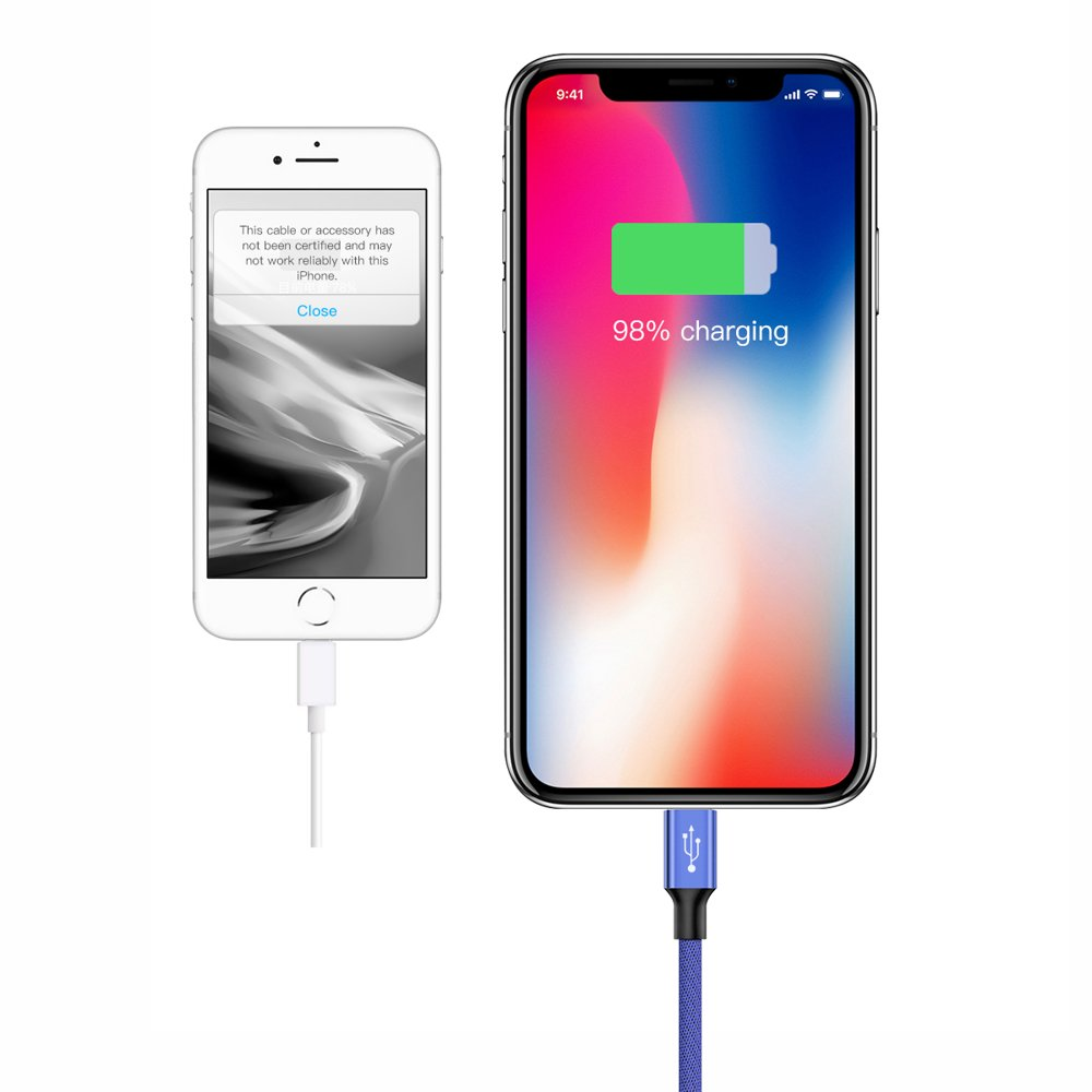 Baseus Artistic USB / Lightning Cable with Material Braid 5M Quick Charge 3.0 QC 3.0 blue (CALYW-M03)