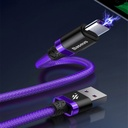 Baseus Purple Gold Red USB / USB-C Cable with Nylon Braid SuperCharge 40W Quick Charge 3.0 QC3.0 2M red (CATZH-B09)
