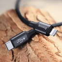 Baseus Yiven USB-C / Lightning Cable with Material Braid 2A 2M black (CATLYW-D01)