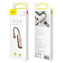 Baseus 3-in-1 iP Male to Dual iP & 3.5mm Female Adapter L52 Blush-gold (CALL52-17)