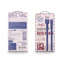 Remax Armor Series flat USB / USB Type C cable 5V 2.4A blue (RC-116a)