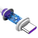Baseus Purple Ring HW Quick Charging USB Cable For Type-C 40W 1m White