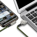 Baseus Exciting Mobile Game Cable USB - Elbow Cable USB / Lightning with Nylon Braid 2.4A 1m Green (CALCJ-A06)