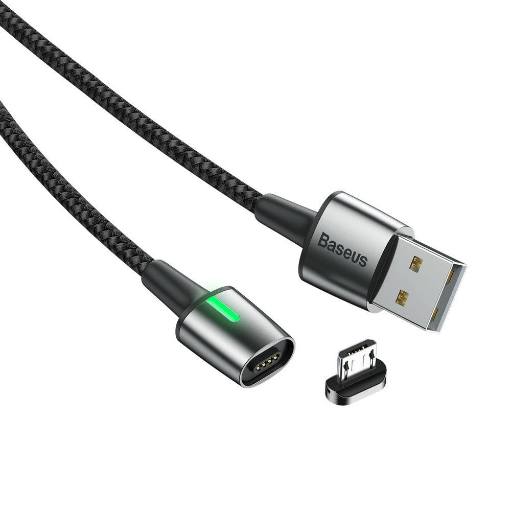 Baseus Zinc Magnetic USB Cable For Micro USB 1.5A 2m Black (CAMXC-B01)