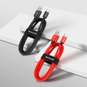 Baseus durable nylon cable USB / USB cable Type C QC3.0 5A 1m red (CATKC-A09)