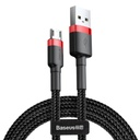 Baseus Cafule Cable Durable Nylon Braided Wire USB / micro USB 2A 3M black-red (CAMKLF-H91)