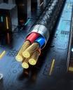 Baseus Zinc magnetic USB cable + plug set Lightning / USB Type C / micro USB 3A 1m black (TZCAXC-A01)