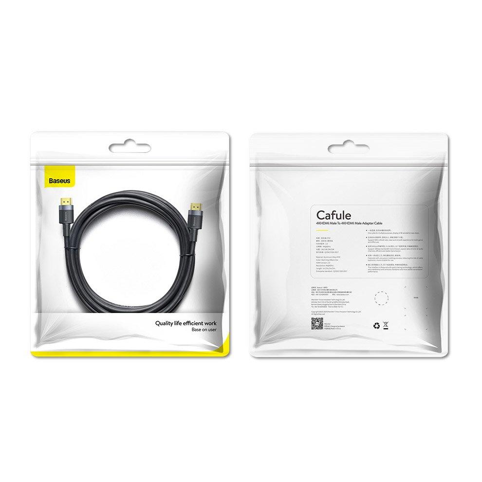 Baseus Cafule HDMI 2.0 cable 4K 60 Hz 3D 18 Gbps 5 m black (CADKLF-H01)