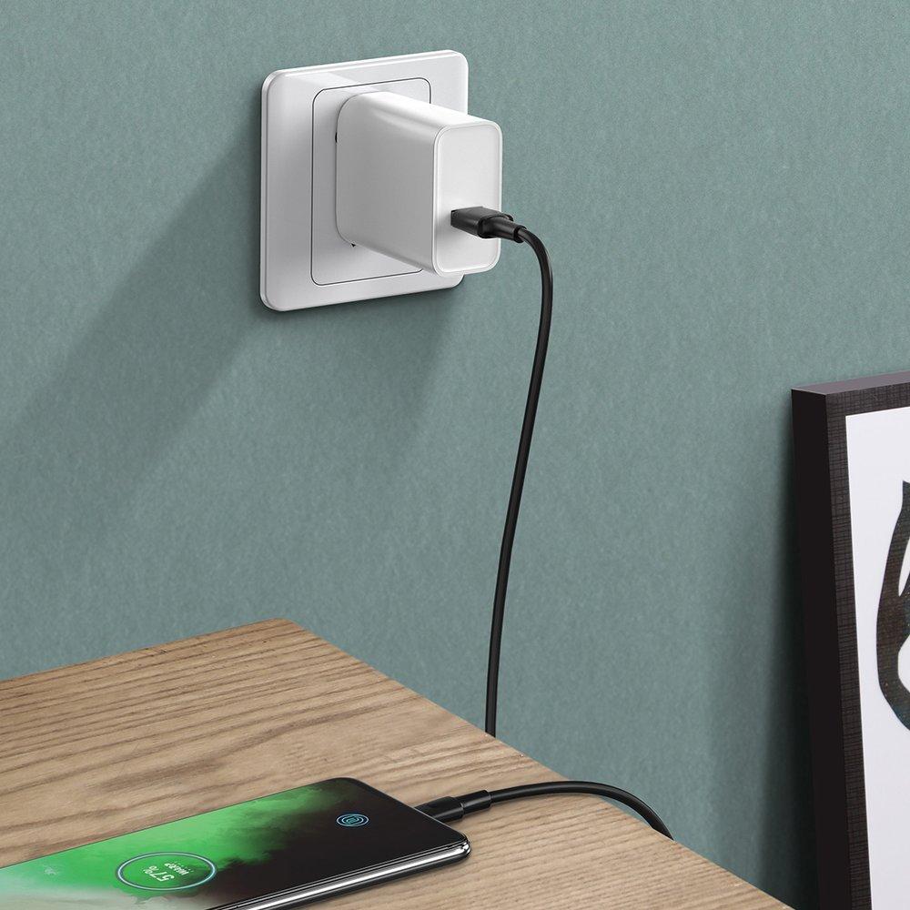 Baseus USB - USB Type C cable VOOC Quick Charge 3.0 5 A 1 m black (CATSW-F01)