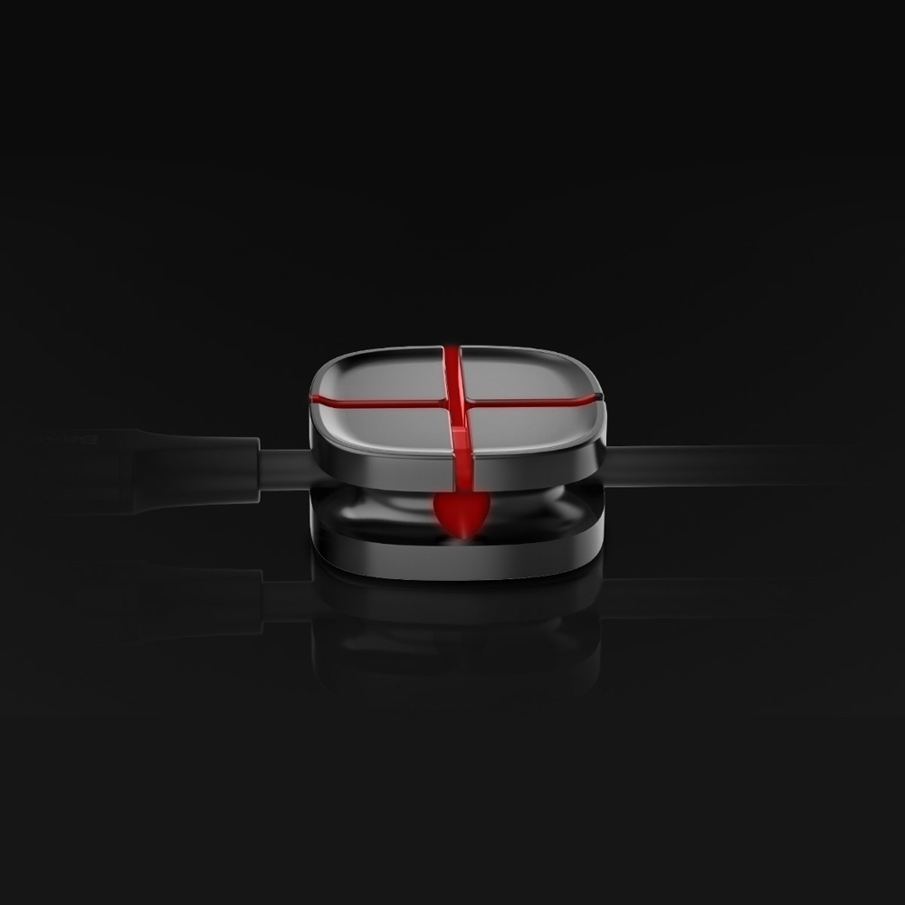 Baseus Cross Peas self-adhesive Cable Organizer Cable Clip black (ACTDJ-01)