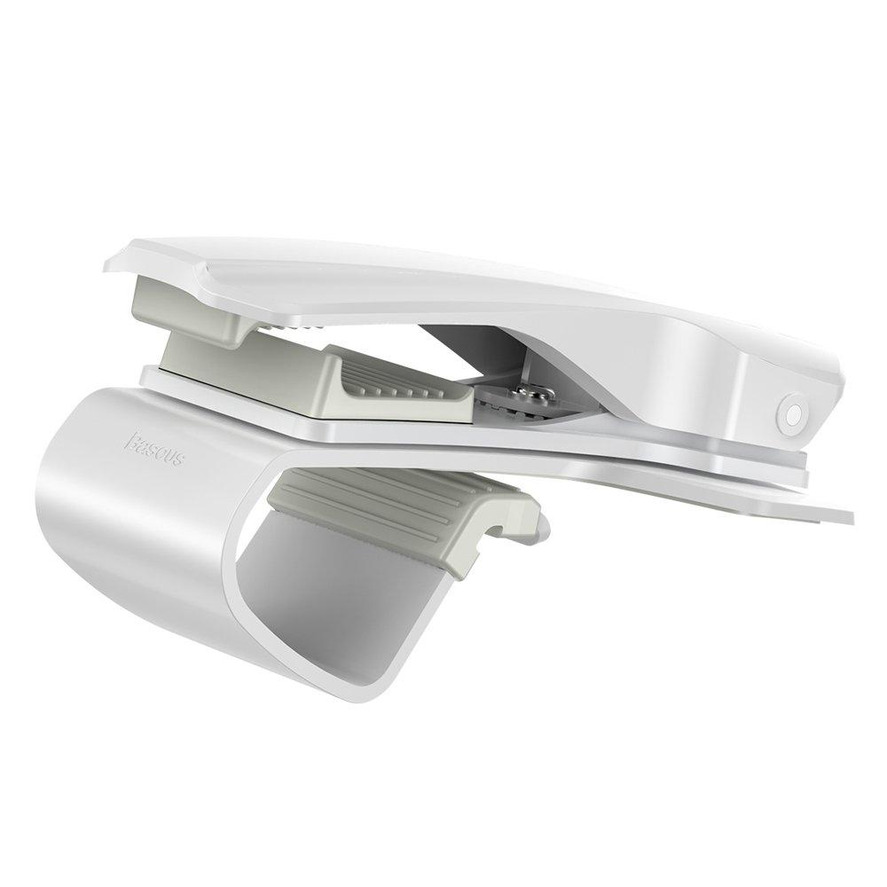 Baseus Mouth Bracket Vehicle Mount Clip for Dashboard white (SUDZ-02)