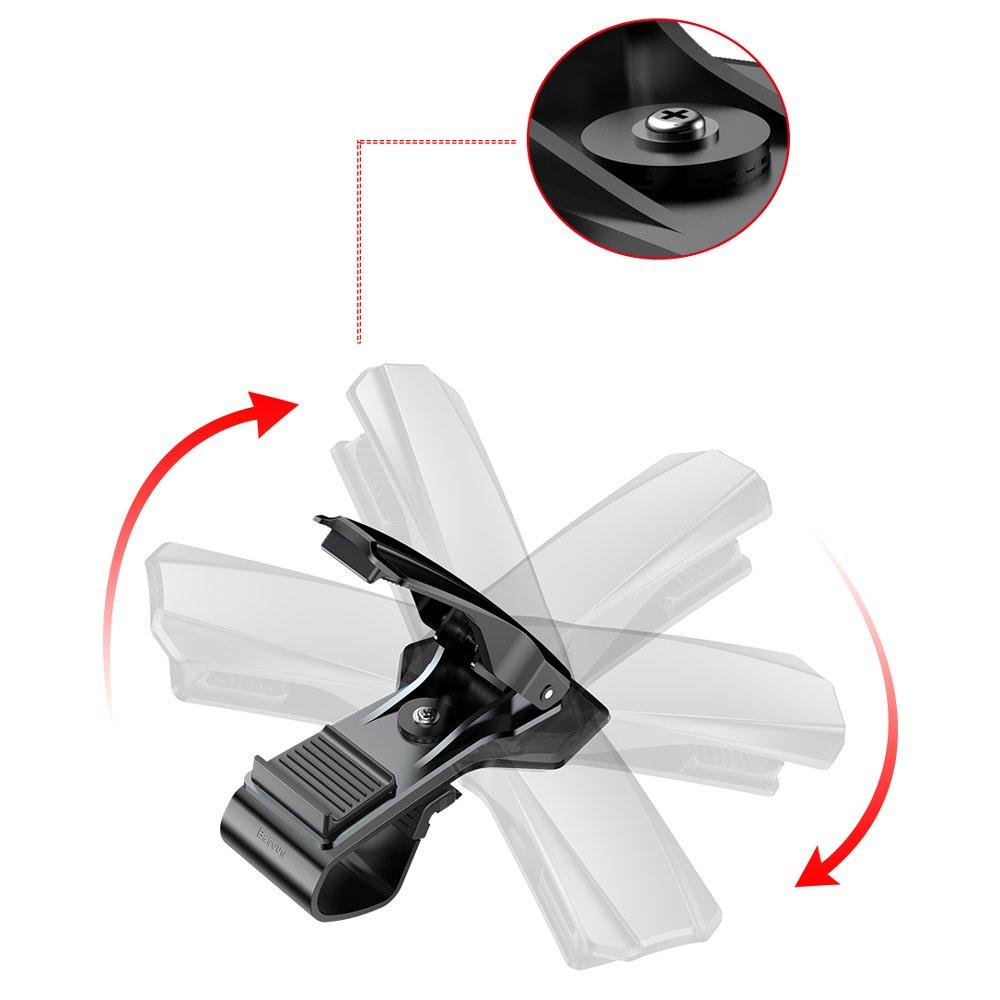 Baseus Mouth Bracket Vehicle Mount Clip for Dashboard black (SUDZ-01)
