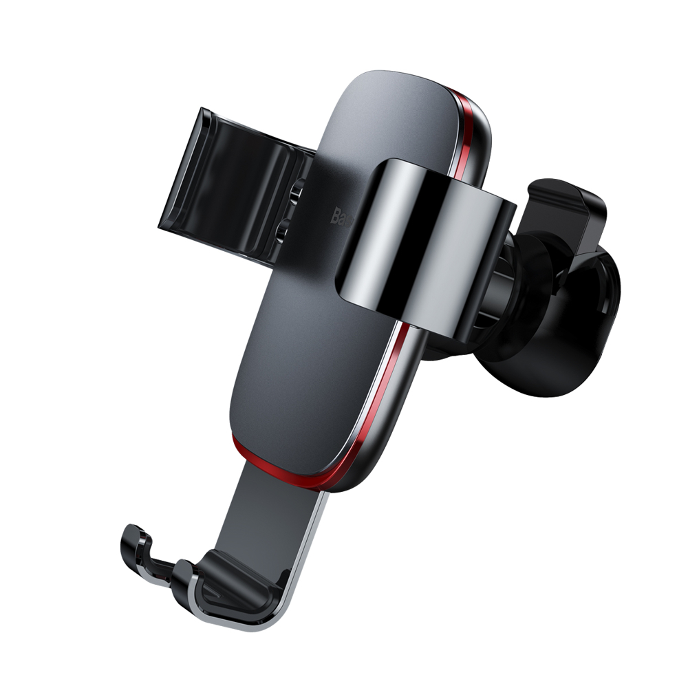 Baseus Metal Age Gravity Car Mount Phone Holder for Air Outlet grey (SUYL-D0G)