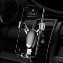 Baseus Mini Gravity Holder Phone Holder for Air Outlet silver (SUYL-G0S)