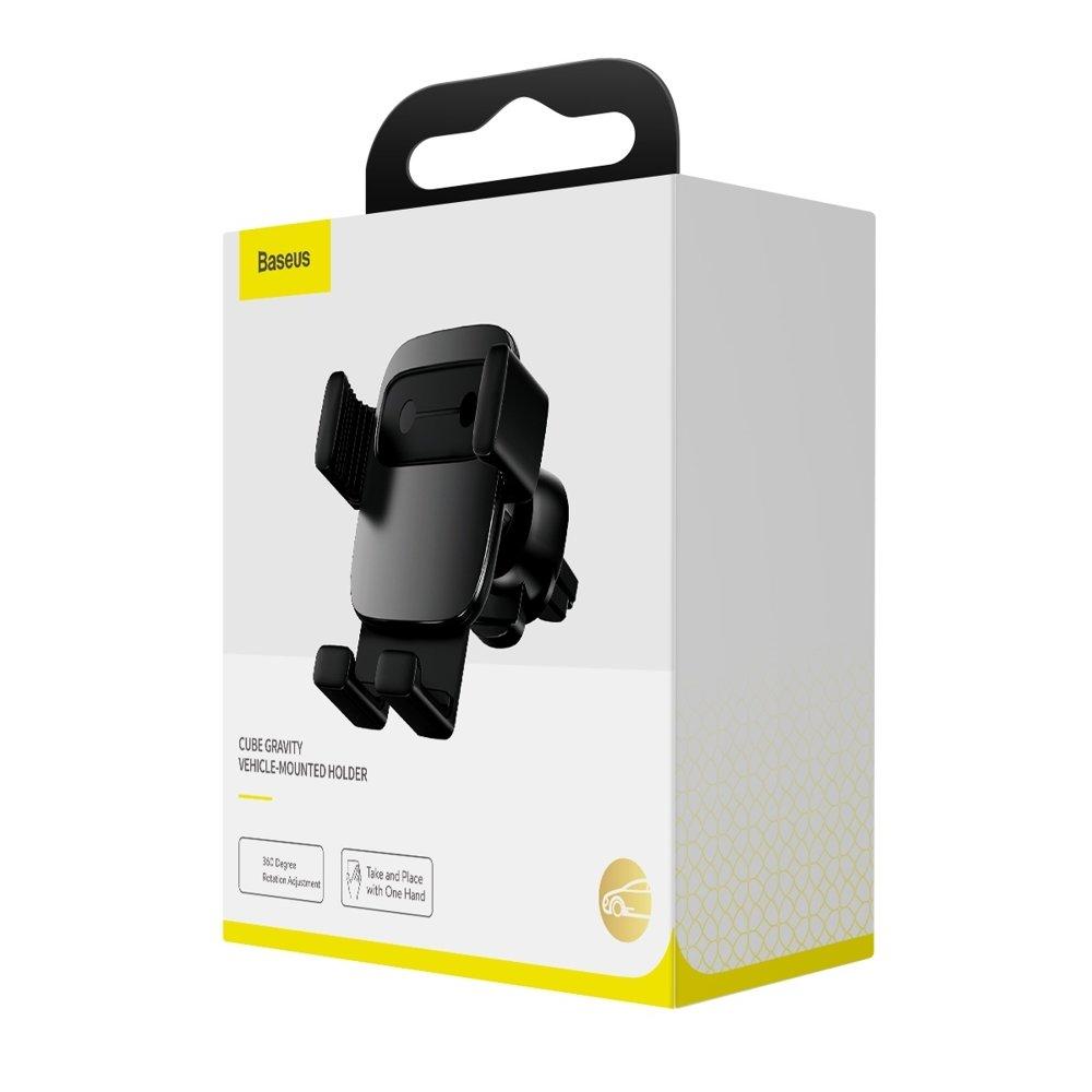 Baseus Cube Gravity Car Mount Air Vent Phone Bracket Holder black (SUYL-FK01)