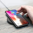 Baseus iX Elegant Wireless Charger Qi Inductive Pad with USB / micro USB Cable 1A 1M black (WXIX-01)