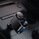 Baseus Locomotive Bluetooth FM Transmitter MP3 Car Charger 2x USB 3.4A black (CCALL-RH01)