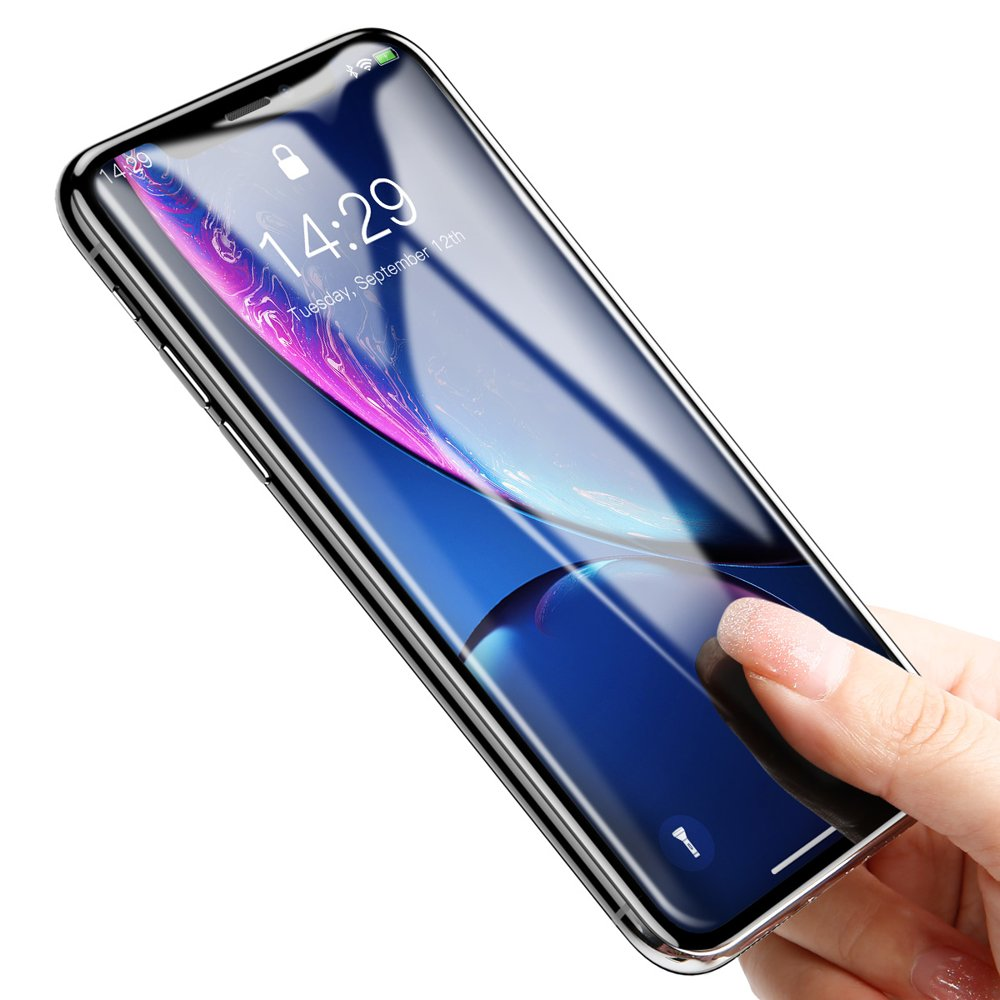 Baseus Rigid-edge Tempered Glass 3D Screen Protector 0,3 mm with Strengthened Frame for Apple iPhone XR / iPhone 11 black (SGAPIPH61-AJG01)