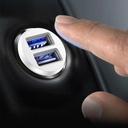 Baseus Grain Car Charger Mini Universal Smart Car Charger 2x USB 3.1A white (CCALL-ML02)
