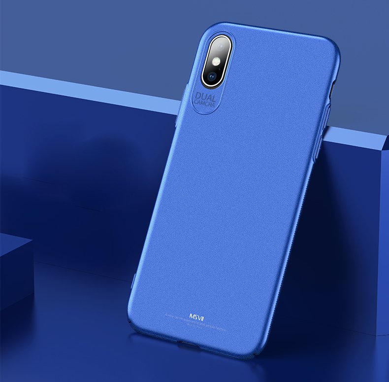 MSVII Simple Ultra-Thin Cover PC Case for iPhone XS Max blue