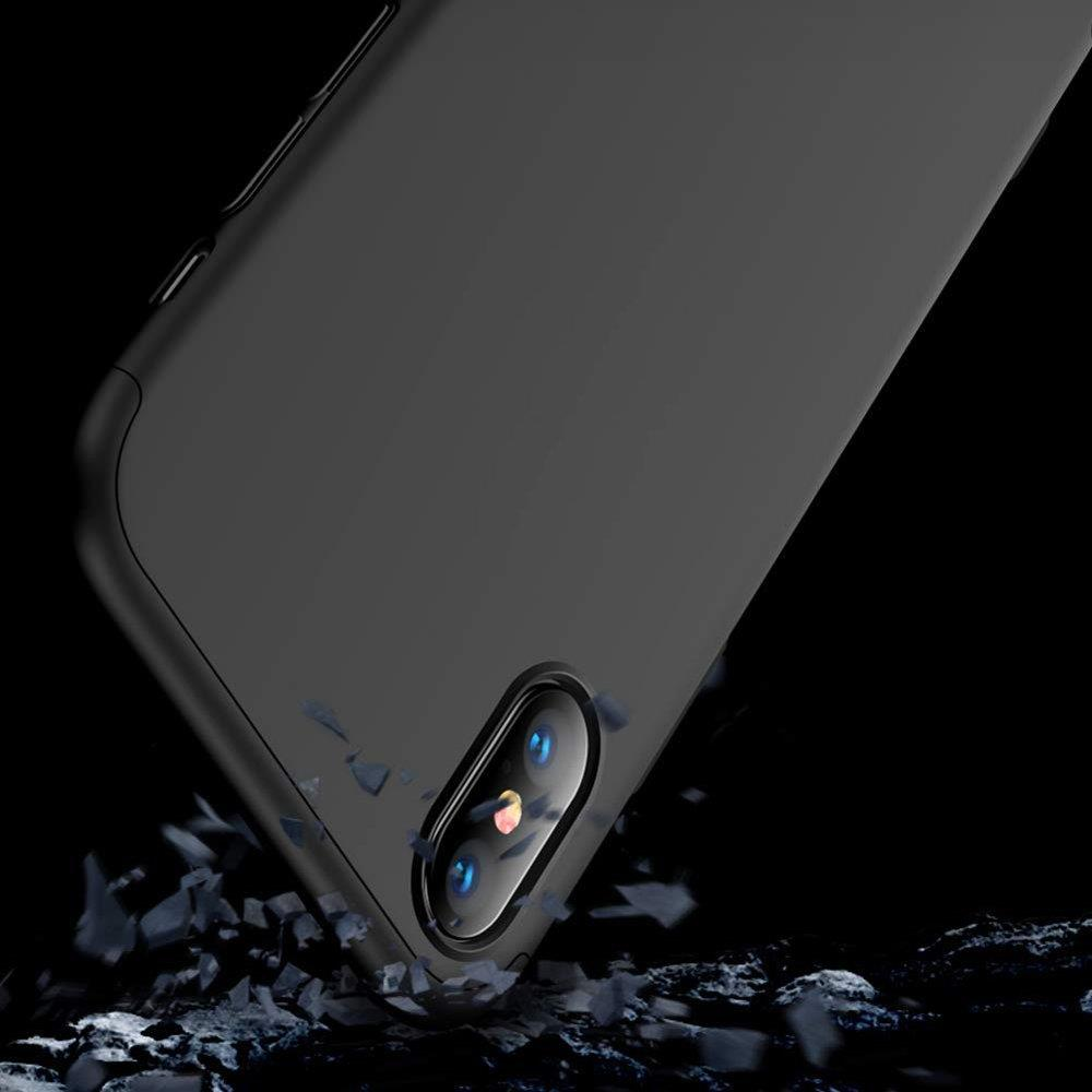 GKK 360 Protection Case Front and Back Case Full Body Cover iPhone XR black