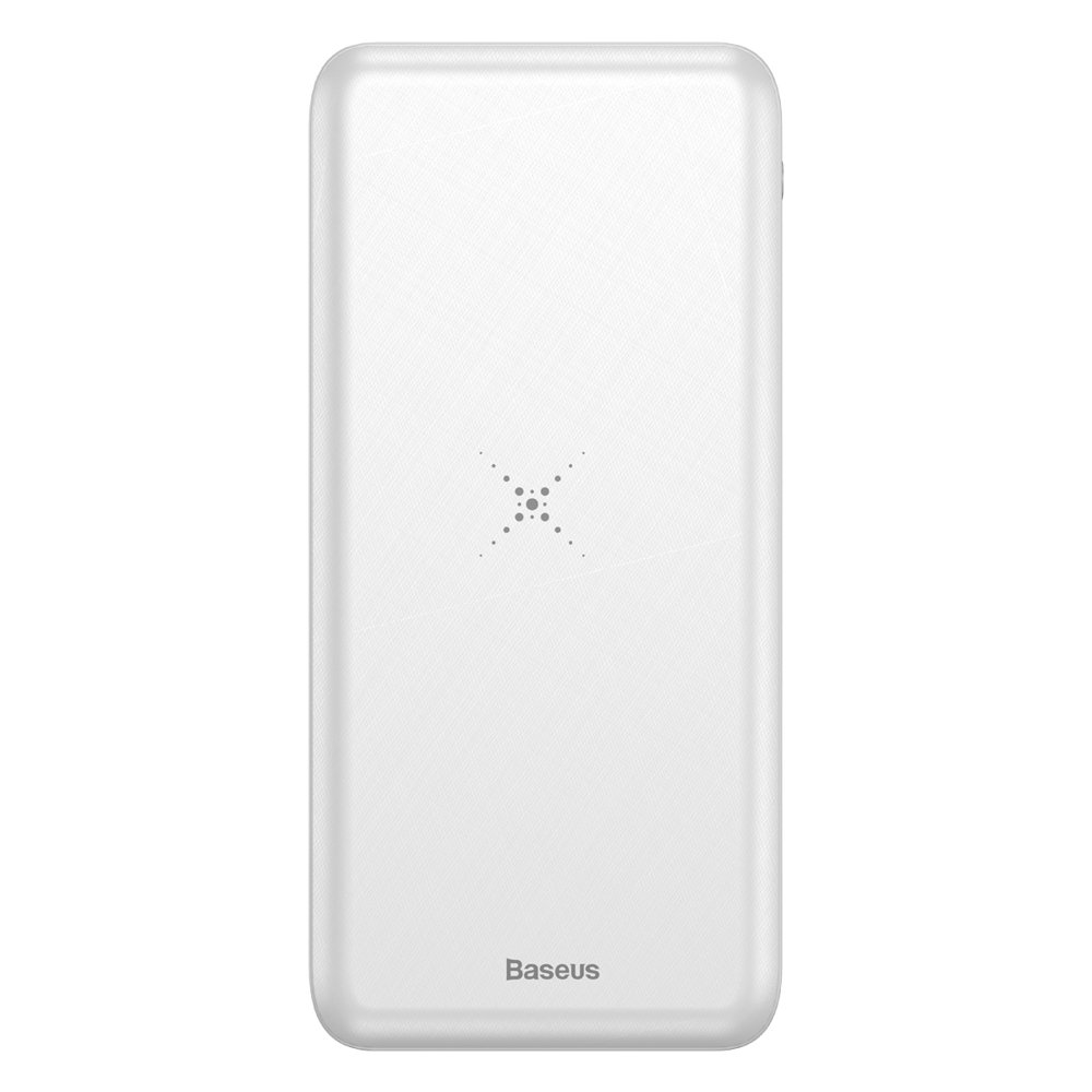 Baseus M36 Wireless Charger Power Bank Qi 10000 mAh with Wireless Charging white (PPALL-M3602)