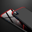 GKK 360 Protection Case Front and Back Case Full Body Cover iPhone X black-red