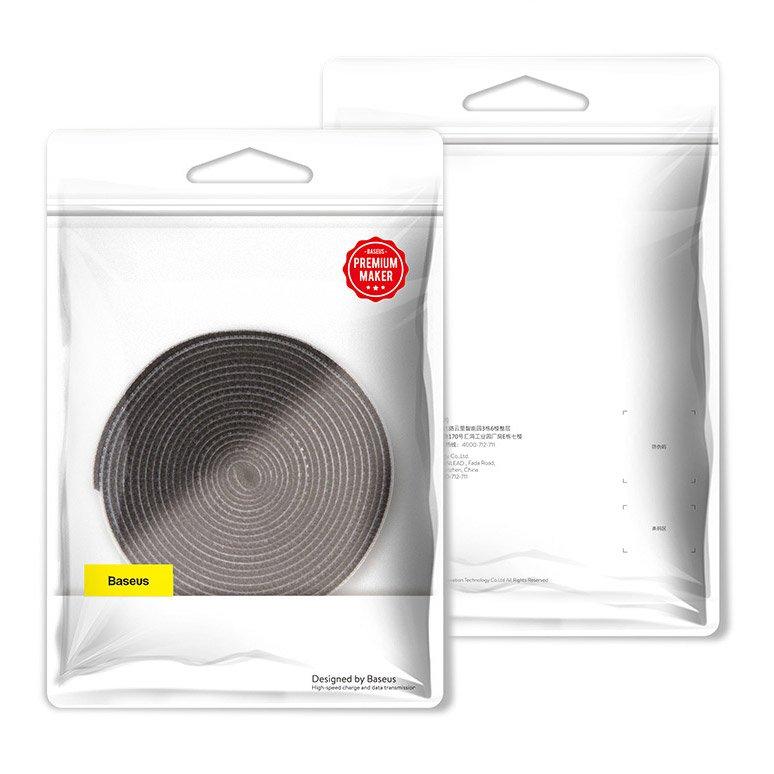 Baseus Rainbow Circle Velcro Straps to organizing cables 3m Black (ACMGT-F01)