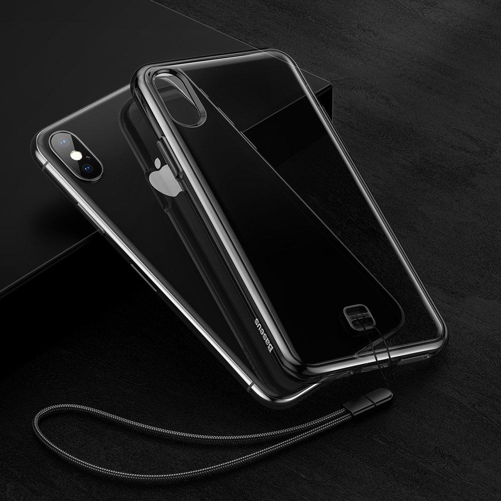 Baseus Transparent Key case cover for iPhone XS Max black (WIAPIPH65-QA01)