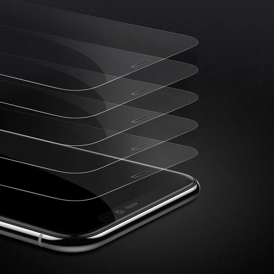 Baseus 0.3mm Full-glass Tempered Glass Film For iPX/XS Transparent (SGAPIPH58-LS02)