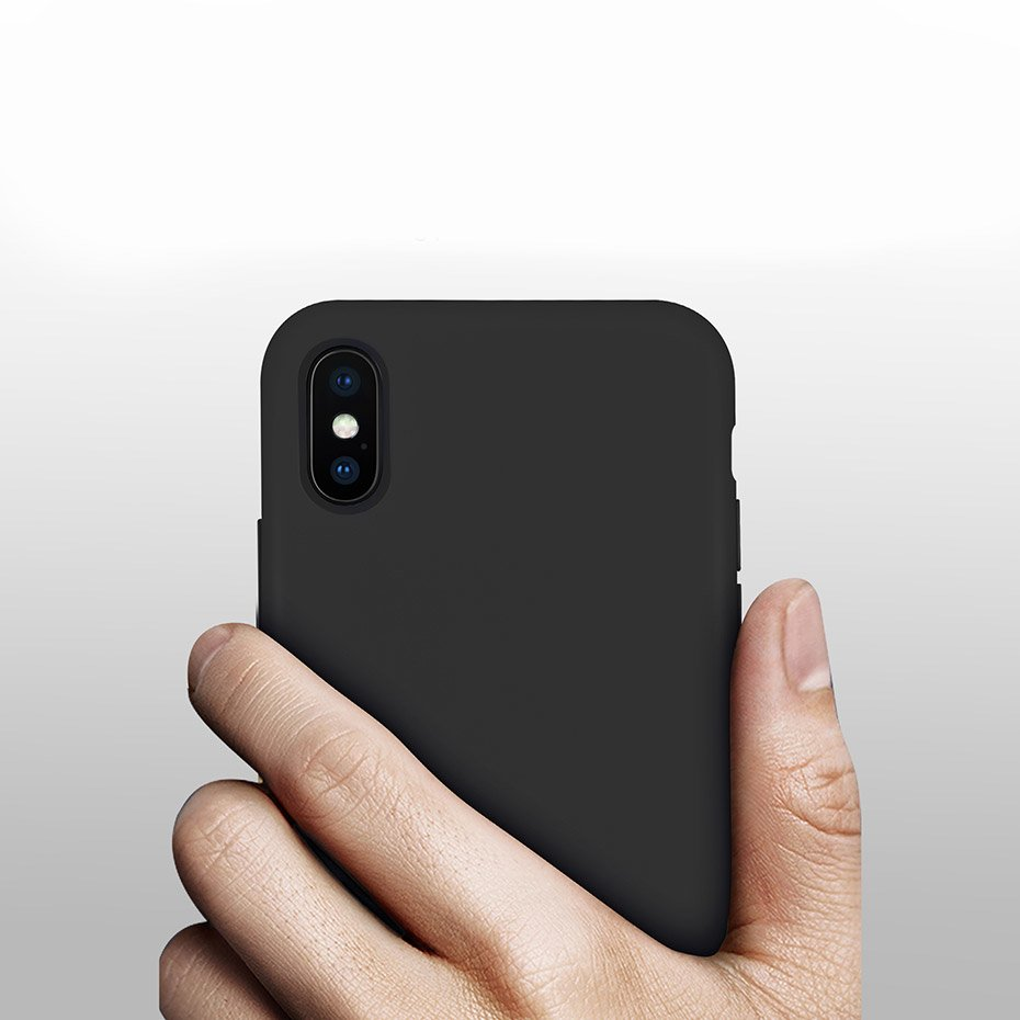 Silicone Case Soft Flexible Rubber Cover for iPhone 11 Pro black