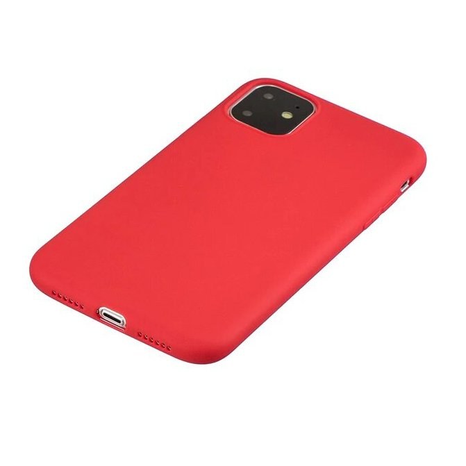 Silicone Case Soft Flexible Rubber Cover for iPhone 11 Pro red