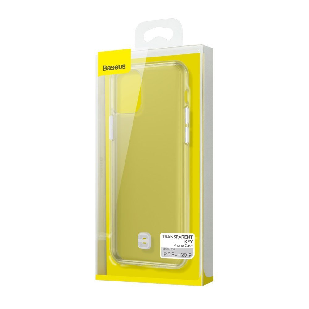 Baseus Ultra-Thin Cover Gel TPU Case with Lanyard Holder for iPhone 11 Pro transparent (WIAPIPH58S-QA02)