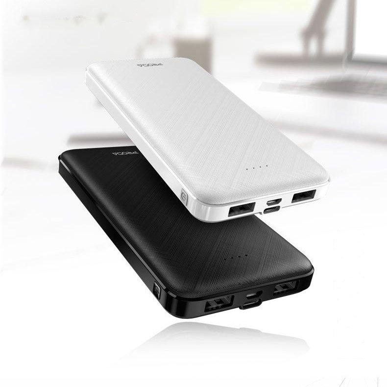 Proda power bank 10000mAh 2x USB black (PD-P39 black)
