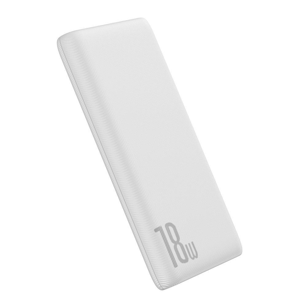 Baseus Bipow power bank 10000mAh 2x USB / 1x USB Typ C Power Delivery 18W Quick Charge 3.0 biały (PPDML-02)