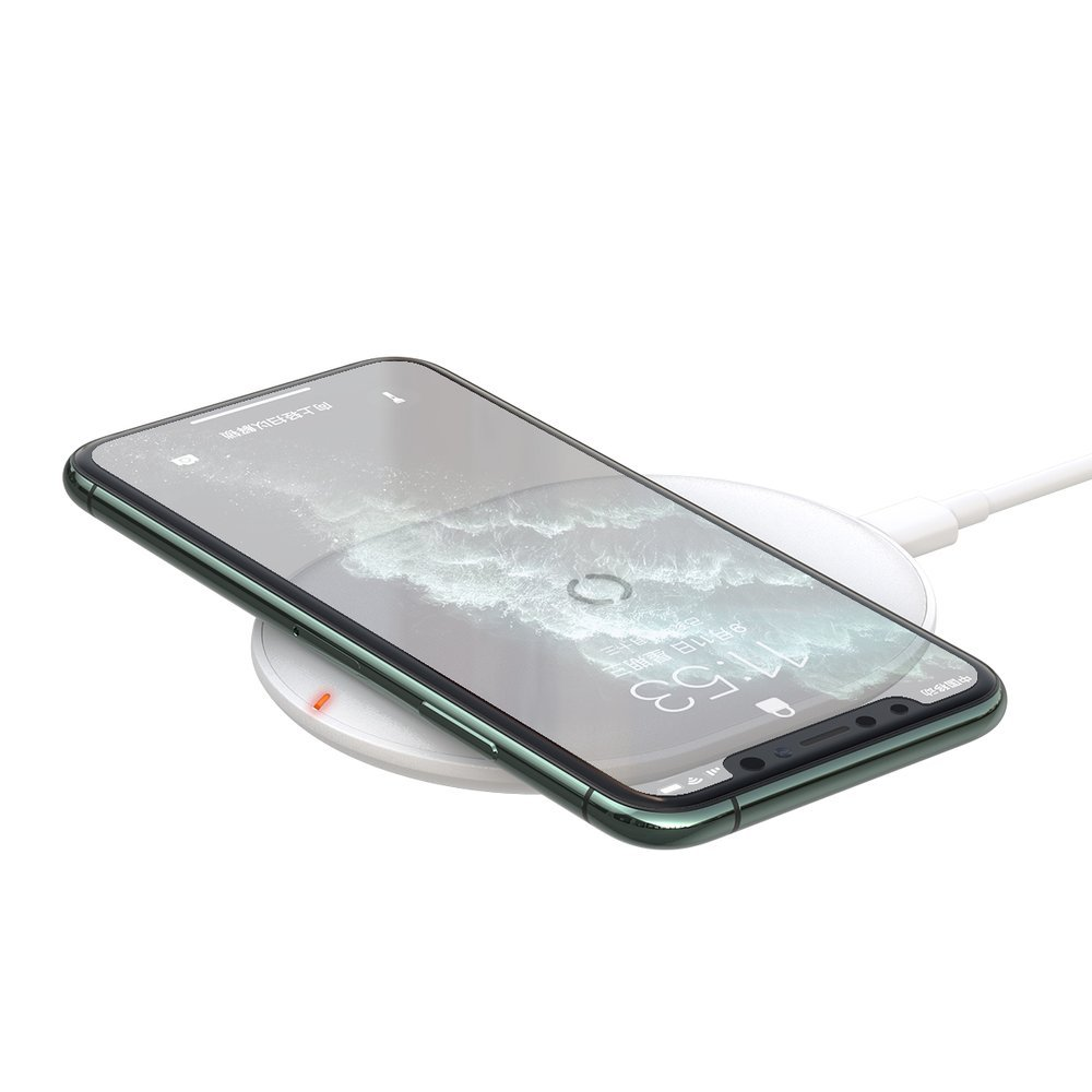 Baseus Cobble qi wireless induction charger 15W + USB - USB Typ C 1m cable white (WXYS-02)