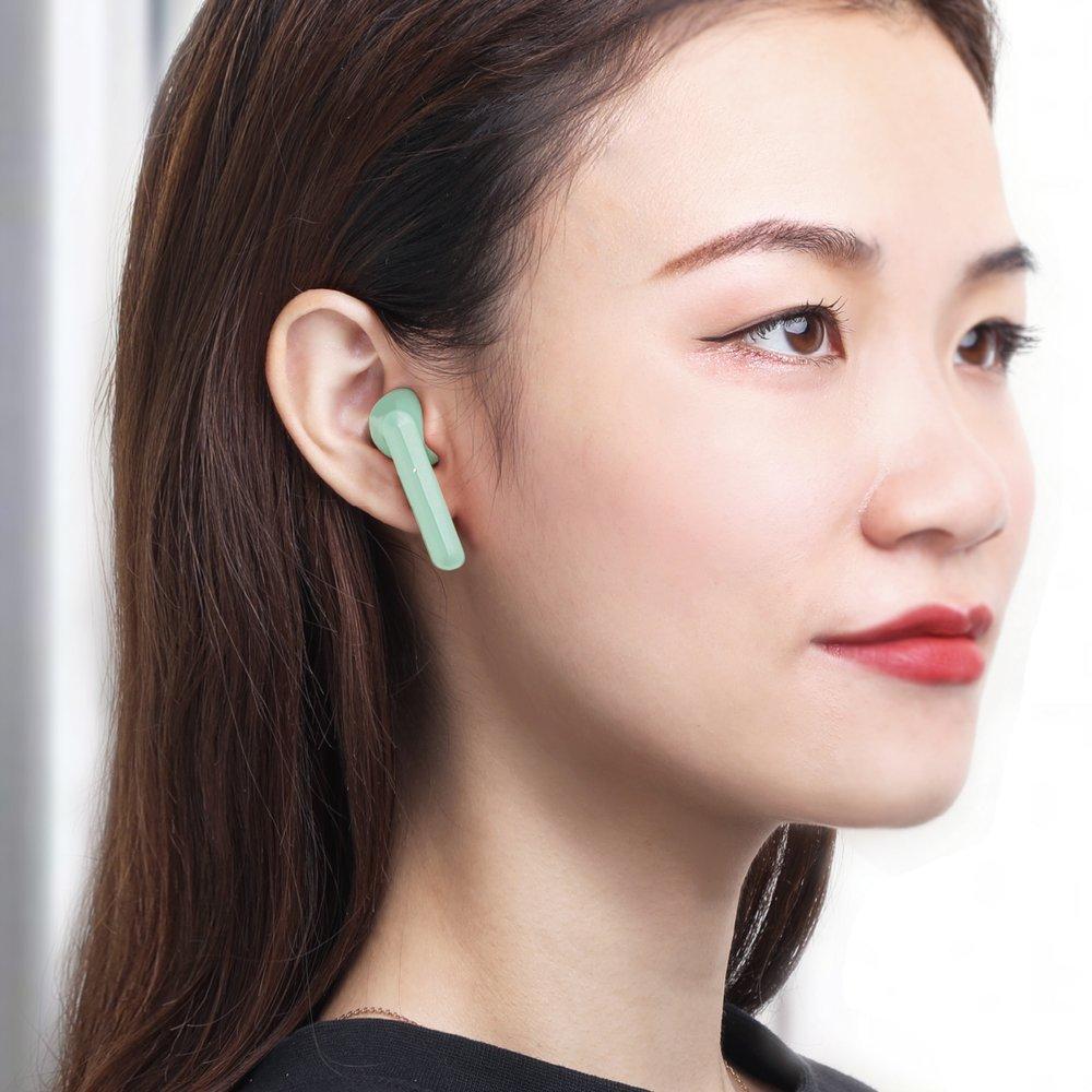 Baseus TWS Encok W09 mini wireless earphone Bluetooth 5.0 TWS Green (NGW09-06)
