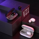WK Design TWS Blutooth 5.0 True Wireless Earbuds with Wireless Charging Case white (TWS-V21 white)