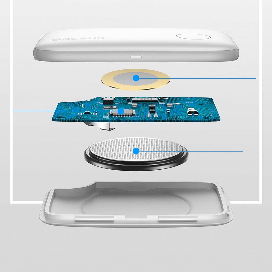 Baseus T2 mini ropetype anti-loss device key locator finder white (ZLFDQT2-02)