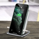 Baseus Cobble qi wireless induction charger 15W + horizontal holder stand white (WXPG-02)