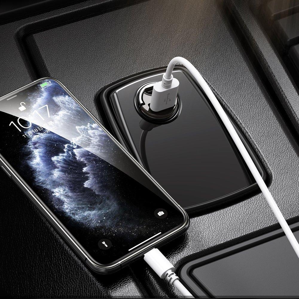 Remax Mini fast Car Charger USB Port 18W Power Delivery PD black (RCC227 black)